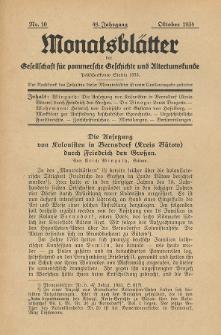 Monatsblätter Jhrg. 48, H. 10 (1934)