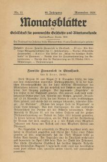 Monatsblätter Jhrg. 48, H. 11 (1934)