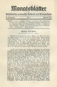 Monatsblätter Jhrg. 51, H. 1 (1937)