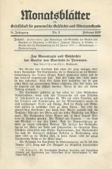 Monatsblätter Jhrg. 51, H. 2 (1937)