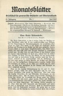 Monatsblätter Jhrg. 51, H. 7 (1937)