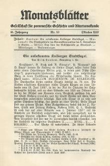 Monatsblätter Jhrg. 51, H. 10 (1937)