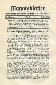 Monatsblätter Jhrg. 52, H. 2 (1938)