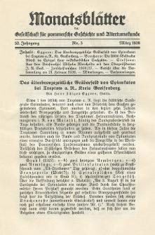 Monatsblätter Jhrg. 52, H. 3 (1938)