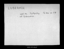 Luberadz. Files of Niedzborz district in the Middle Ages. Files of Historico-Geographical Dictionary of Masovia in the Middle Ages