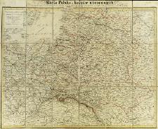 Karta Polski i krajów ościennych ze szczególnym oznaczeniem kolei żelaznych, gościńców, telegrafów, zdrojowisk i źródeł nafty