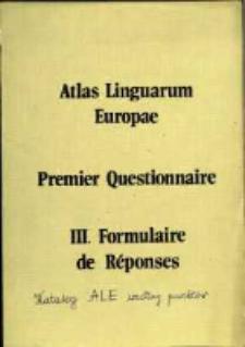 Kartoteka Atlasu językowego Europy; Punkty