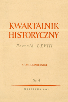 Kwartalnik Historyczny R. 68 nr 4 (1961), Recenzje