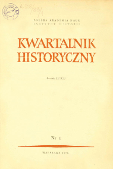Kwartalnik Historyczny R. 83 nr 1 (1976), Title pages, Contents