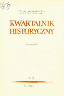 Kwartalnik Historyczny. R. 83 nr 2 (1976), Title pages, Contents