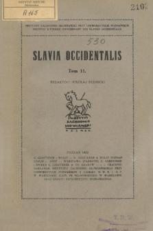 Slavia Occidentalis. T. 11 (1932)