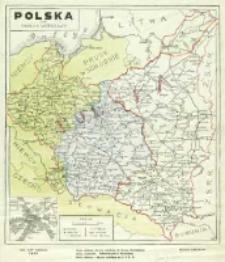 Polska oraz okolice Warszawy : [mapa]