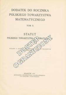 Statut Polskiego Towarzystwa Matematycznego