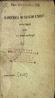Kamienica w Długim Rynku : powieść