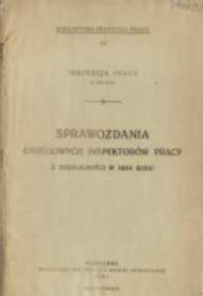 Inspekcja Pracy w 1924 Roku = L'Inspection du Travail en 1924