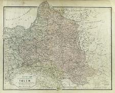 Karte des ehemaligen Königreiches Polen in seiner gegenwärtigen Eintheilung mit Nachtragungen des Eisenbahnen etc. im Jahre 1870