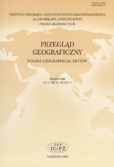 Przegląd Geograficzny T. 85 z. 2 (2013), Spis treści