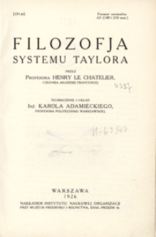 Filozofja systemu Taylora