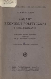 Zasady ekonomji politycznej i podatkowania