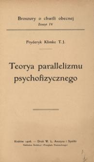 Teorya parallelizmu psychofizycznego