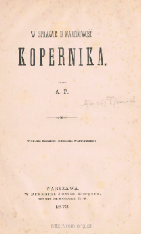W sprawie o narodowość Kopernika