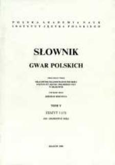 Słownik gwar polskich. T. 5 z. 3 (15), (De-Dojrzewać (się))