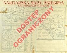 Narciarskia mapa śniegowa Ligi Popierania Turystyki
