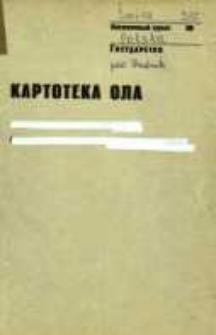 Kartoteka Ogólnosłowiańskiego atlasu językowego (OLA); Śmicz (288)