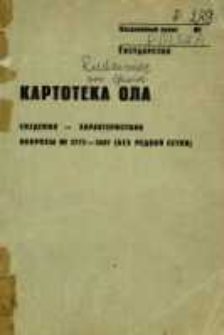 Kartoteka Ogólnosłowiańskiego atlasu językowego (OLA); Rudziniec (289)