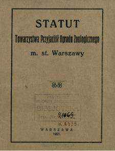 Statut Towarzystwa Przyjaciół Ogrodu Zoologicznego m. st. Warszawy