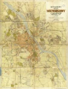 Szczegółowy plan M. St. Warszawy : z najnowszymi nazwami ulic