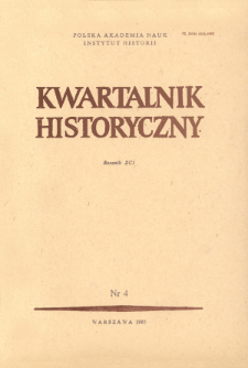 Kwartalnik Historyczny. R. 91 nr 4 (1984), Title pages, Contents