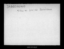 Jabłonowo. Kartoteka powiatu szreńskiego w średniowieczu. Kartoteka Słownika historyczno-geograficznego Mazowsza w średniowieczu