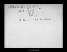 Krzywki-Bratki. Kartoteka powiatu szreńskiego w średniowieczu. Kartoteka Słownika historyczno-geograficznego Mazowsza w średniowieczu