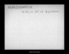 Marszewnica. Kartoteka powiatu szreńskiego w średniowieczu. Kartoteka Słownika historyczno-geograficznego Mazowsza w średniowieczu