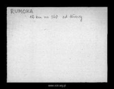 Rumoka. Kartoteka powiatu szreńskiego w średniowieczu. Kartoteka Słownika historyczno-geograficznego Mazowsza w średniowieczu