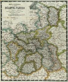 Mapa pocztowa guberni Królestwa Polskiego wraz ze skorowidzem i wykazaniem wszelkich dróg oraz odległości od nich, ułożona podług najnowszych źródeł rządowych