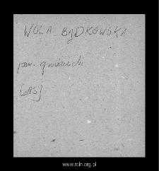 Wola Bądkowska. Kartoteka powiatu grójeckiego w średniowieczu. Kartoteka Słownika historyczno-geograficznego Mazowsza w średniowieczu