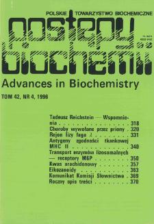 Postępy biochemii, Tom 42, Nr 4