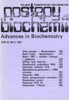 Postępy biochemii, Tom 43, Nr 4