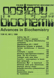 Postępy biochemii, Tom 42, Nr 2