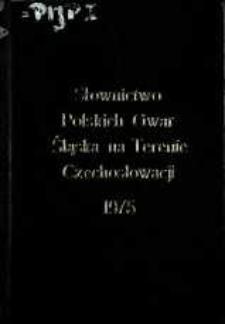 Słownictwo polskich gwar Śląska na terenie Czechosłowacji