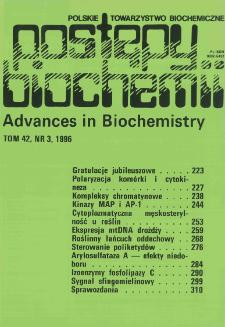 Postępy biochemii, Tom 42, Nr 3