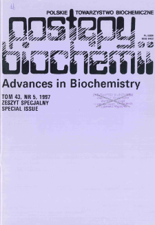 Postępy biochemii, Tom 43, Nr 5 (Special issue)