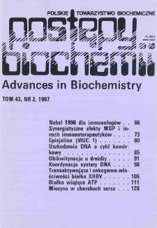 Postępy biochemii, Tom 43, Nr 2