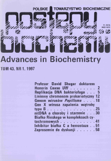 Postępy biochemii, Tom 43, Nr 1
