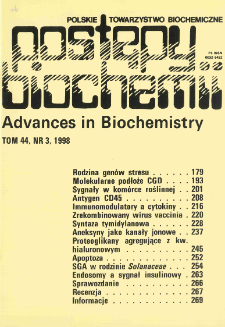 Postępy biochemii, Tom 44, Nr 3