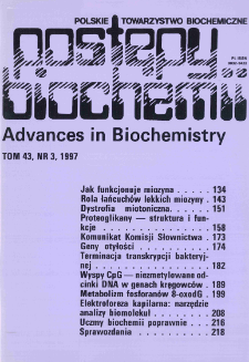 Postępy biochemii, Tom 43, Nr 3