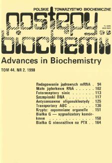 Postępy biochemii, Tom 44, Nr 2