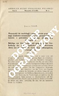 Beiträge zur Morphologie und geographischen Verbreitung der mitteleuropäischen und mediterranen Arten aus der Subfamilie Cercopinae (Homoptera, Cercopidae)